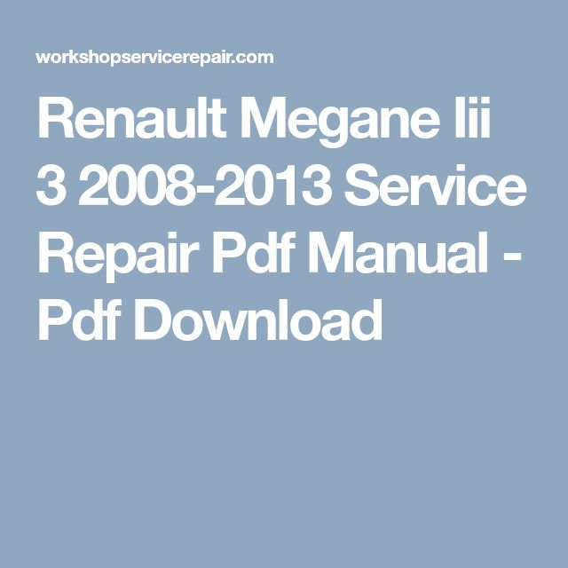 renault megane 2 workshop manual free download