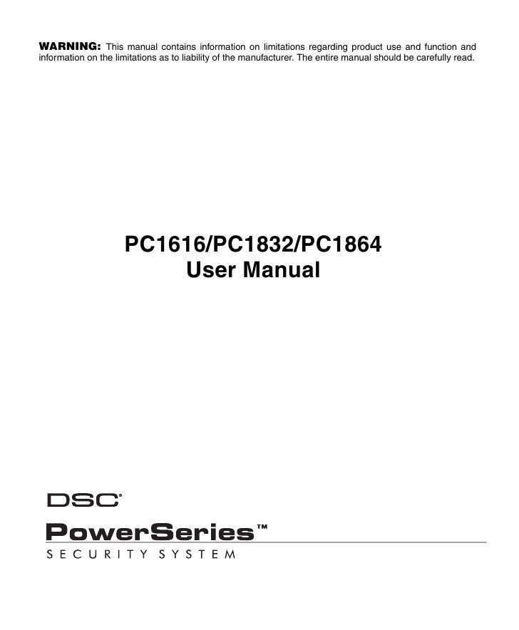 dsc home security system manual