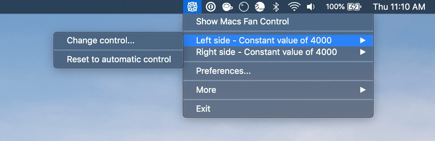 how to manually adjust fan speed